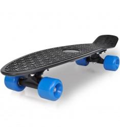 Ρετρό Skateboard Πατίνι με Μαύρη Επιφάνεια και Μπλε Ρόδες  90555