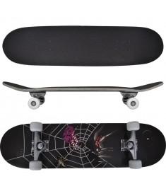 "Skateboard με Σχέδιο Αράχνη Οβάλ 8"" από Σφενδάμι 9 Στρώσεων  90559"