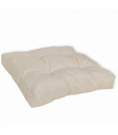 Μαξιλάρι Καθίσματος Επενδεδυμένο Λευκό της Άμμου 50 x 50 x 10 εκ.