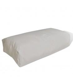Μαξιλάρι Πλάτης Επενδεδυμένο Λευκό της Άμμου 80 x 40 x 20 εκ.
