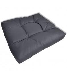Μαξιλάρι καθίσματος με επένδυση 60 x 60 x 10 cm γκρι