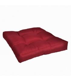 Μαξιλάρι Καθίσματος Επενδεδυμένο Μπορντώ 50 x 50 x 10 εκ.  40972