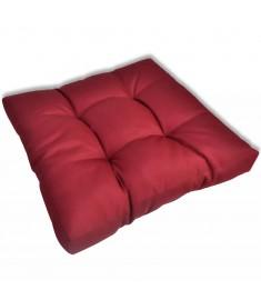 Μαξιλάρι Καθίσματος Επενδεδυμένο Μπορντώ 60 x 60 x 10 εκ.