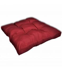 Μαξιλάρι Καθίσματος Επενδεδυμένο Μπορντώ 80 x 80 x 10 εκ.