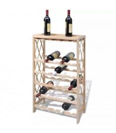 Κάβα / Ραφιέρα Κρασιών για 25 Μπουκάλια Ξύλινη   241068