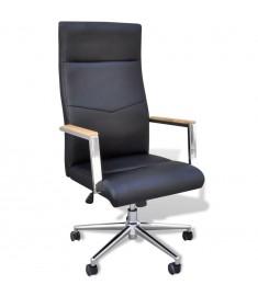 Πολυθρόνα γραφείου από συνθετικό δέρμα Μαύρη  20083