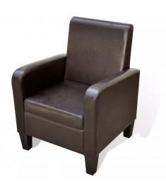 Πολυθρόνα Καφέ από Συνθετικό Δέρμα   241108