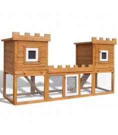 Κλουβί Κουνελιών/Σπίτι Μικρών Ζώων Εξωτ. Χώρου Διπλό Σπίτι  170174