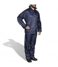 Κοστούμι Αδιάβροχο Ανδρικό 2 Τεμαχίων Ναυτικό Μπλε XXL με Κουκούλα  130188