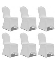 Κάλυμμα Καρέκλας Ελαστικό Λευκό 6 τεμ.