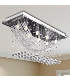 Φωτιστικό Οροφής με Αστραφτερές Κρυστάλλινες Χάντρες Λευκό 29 εκ.   241391