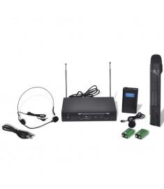 Δέκτης με 1 Ασύρματο Μικρόφωνο και 1 Ασύρματο ακουστικό VHF  50304