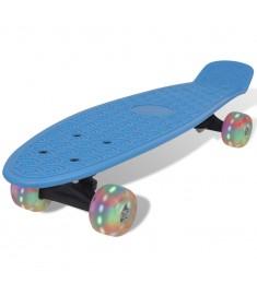 Skateboard Ρετρό Μπλε με LED Τροχούς  90658