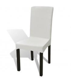 Κάλυμμα Καρέκλας Ελαστικό Ίσιο 6 τεμ. Κρεμ