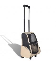 Τσάντα Μεταφοράς Κατοικίδιων Αναδιπλούμενη Πολυχρηστική Μπεζ  170192