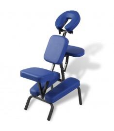 Καρέκλα μασάζ Πτυσσόμενη & φορητή Μπλε   110101