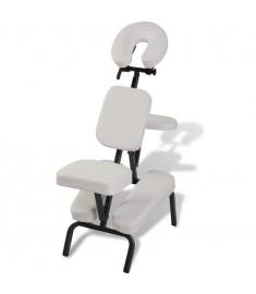 Καρέκλα μασάζ Πτυσσόμενη & φορητή Λευκή   110102