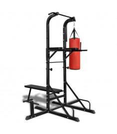 Όργανο γυμναστικής με πάγκο κοιλιακών και σάκο του μποξ  90667