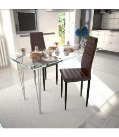 Καρέκλες Τραπεζαρίας με Λεπτή Γραμμή 2 τεμ. Καφέ   241500