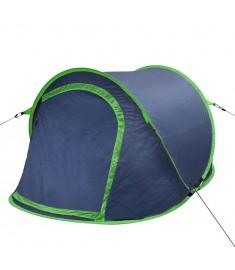 Σκηνή Camping Pop-up 2 Ατόμων Ναυτικό Μπλε / Πράσινο  90671
