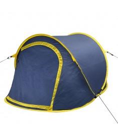 Σκηνή Camping Pop-up 2 Ατόμων Ναυτικό Μπλε / Κίτρινο  90672