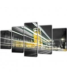 Πίνακας σε Καμβά Σετ Λονδίνο Big Ben 100 x 50 εκ.  241544
