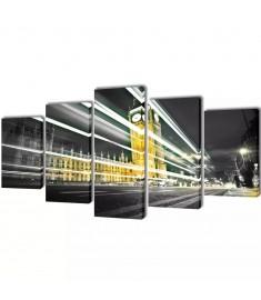 Πίνακας σε Καμβά Σετ Λονδίνο Big Ben 200 x 100 εκ.  241545