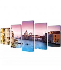 Πίνακας σε Καμβά Σετ Βενετία 100 x 50 εκ.  241556