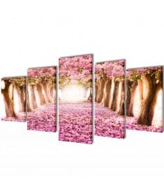 Πίνακας σε Καμβά Σετ Ανθισμένες Κερασιές 100 x 50 εκ.  241574