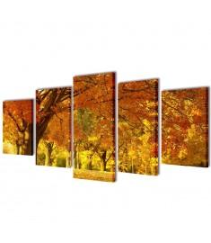 Πίνακας σε Καμβά Σετ Σφένδαμος 100 x 50 εκ.  241576