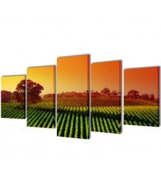 Πίνακας σε Καμβά Σετ Αγρός 100 x 50 εκ.  241580
