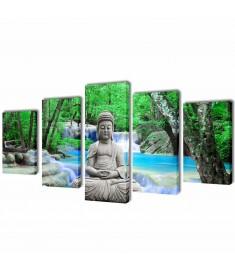 Πίνακας σε Καμβά Σετ Βούδας 100 x 50 εκ.   241588