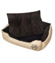 Κρεβάτι Σκύλου Ζεστό με Μαξιλαράκι Μπεζ/Καφέ XL  170202