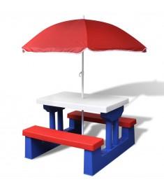 Τραπέζι Πικ-νικ Παιδικό με Ομπρέλα  41455