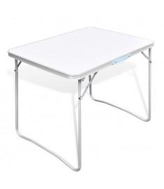 Τραπέζι Camping Πτυσσόμενο 80 x 60 εκ. με Μεταλλικό Σκελετό   41324