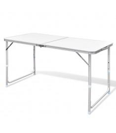 Τραπέζι Βαλίτσα Πτυσσόμενο Ρυθμιζόμενο Ύψος 120 x 60 cm Αλουμινίου   41325