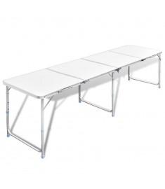 Τραπέζι Βαλίτσα Πτυσσόμενο Ρυθμιζόμενο Ύψος 240 x 60 cm Αλουμινίου   41327