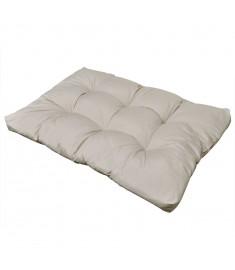 Μαξιλάρι Καθίσματος Επενδεδυμένο Λευκό της Άμμου 120 x 80 x 10 εκ.