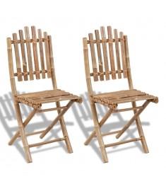 Καρέκλες Κήπου Πτυσσόμενες 2 τεμ. από Μπαμπού  41498