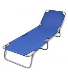Ξαπλώστρα Πτυσσόμενη Μπλε Ατσάλινη με Ηλεκτροστατική Βαφή  41477