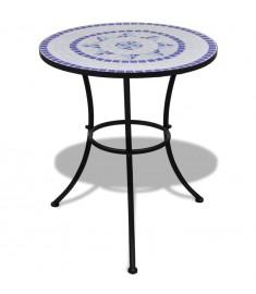 """Τραπέζι """"Μωσαϊκό"""" Μπλε / Λευκό 60 εκ.   41530"""