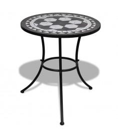 """Τραπέζι """"Μωσαϊκό"""" Μαύρο / Άσπρο 60 εκ.   41532"""