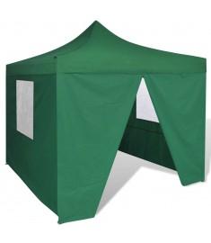 Τέντα Πτυσσόμενη με 4 Πλευρικά Τοιχώματα Πράσινη 3 x 3 μ.  41468