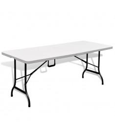 Τραπέζι Βαλίτσα Πτυσσόμενο Κήπου Λευκό 180 cm   41567