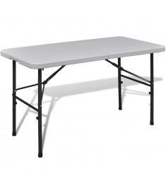 Τραπέζι Βαλίτσα Πτυσσόμενο Κήπου Λευκό 122 cm    41568