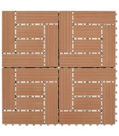 Πλακάκια Deck 11 τεμ. Καφέ 30 x 30 εκ. / 1 τ.μ. WPC  41550