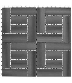 Πλακάκια Deck 11 τεμ. Γκρι  30 x 30 εκ. / 1 τ.μ.  WPC   41551