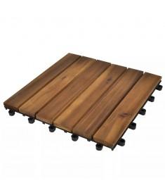Πλακάκια Deck 10 τεμ. Κάθετο Σχέδιο 30 x 30 εκ. από Ξύλο Ακακίας  41584