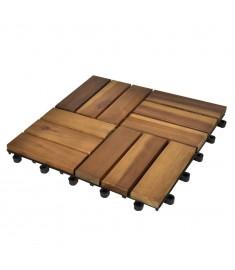 Πλακάκια Deck 10 τεμ. 30 x 30 εκ. από Ξύλο Ακακίας  41585
