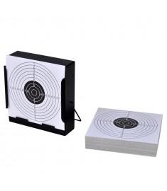 14 εκ. Τετράγωνη Στοχοθήκη / Βληματοπαγίδα + 100 Χάρτινοι Στόχοι